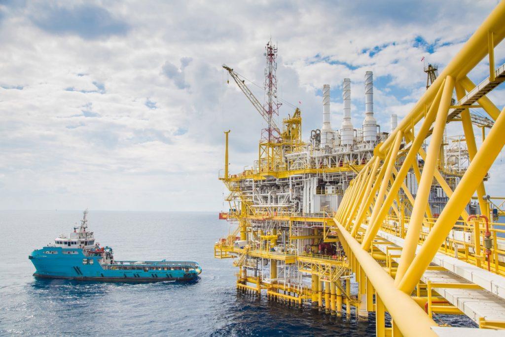 Oil Rig and Drilling Platform in the Ocean - KB Delta
